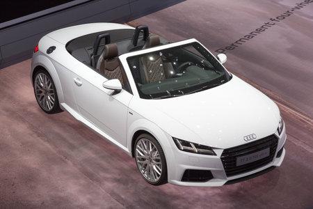 iaa: FRANKFURT, GERMANY - SEP 16, 2015: Audi TT 2.0 TDI Ultra at the IAA 2015.