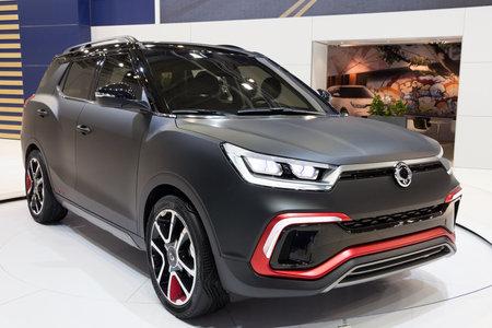 iaa: FRANKFURT, GERMANY - SEP 16, 2015: SsangYong XLV Concept car presentedat the IAA 2015.