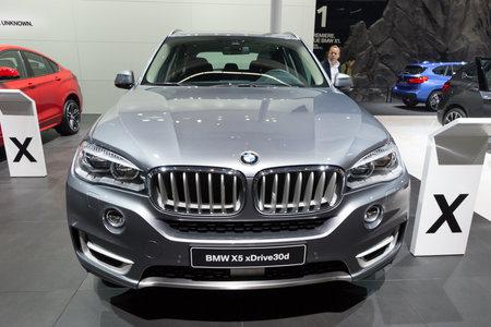 iaa: FRANKFURT, GERMANY - SEP 16, 2015: BMW X5 xDrive30d shown at the IAA 2015.