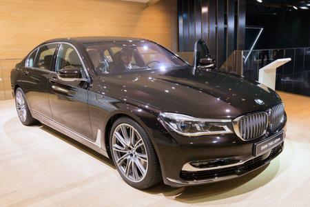iaa: FRANKFURT, GERMANY - SEP 16, 2015: BMW 750Li xDrive High Executive shown at the IAA 2015. Editorial