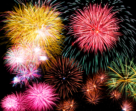 'new year's day': Fireworks