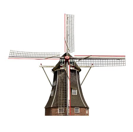 풍차 고립 된 네덜란드 스톡 콘텐츠