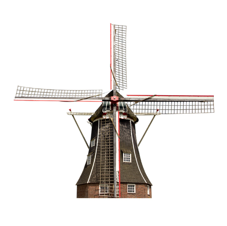 Dutch windmill isolated Reklamní fotografie
