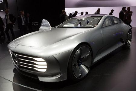 iaa: FRANKFURT, GERMANY - SEP 16, 2015: Mercedes-Benz Concept IAA Edition at the IAA 2015.