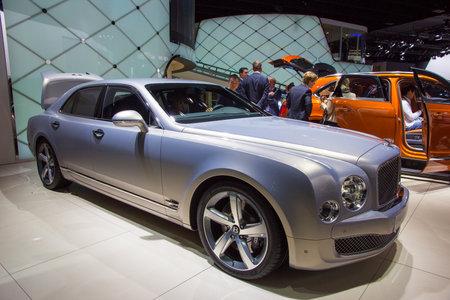 luxe: FRANKFURT, GERMANY - SEP 16, 2015: Bentley Mulsanne at the IAA 2015.