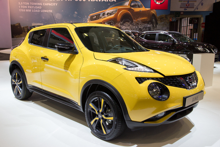 motor show: BRUSSELS - JAN 12, 2016: Nissan Juke on display at the Brussels Motor Show.