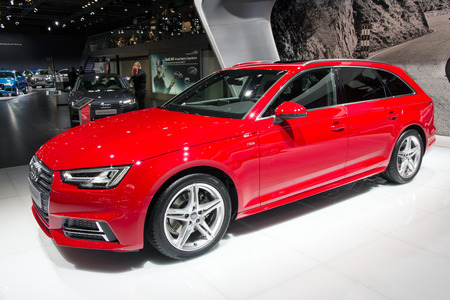 avant: BRUSSELS - JAN 12, 2016: Audi A4 Avant on display at the Brussels Motor Show.