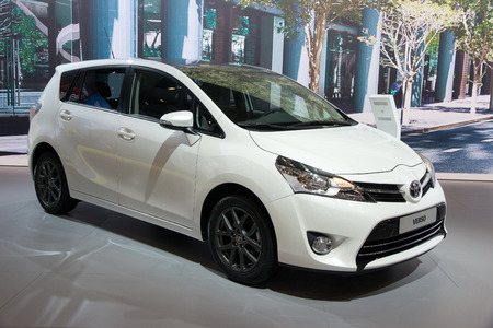 mpv: BRUSSELS - JAN 12, 2016: Toyota Verso on display at the Brussels Motor Show.