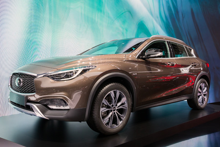 automobile: GENEVA, SWITZERLAND - MARCH 1, 2016: Infiniti QX30 shown at the 86th International Geneva Motor Show in Palexpo, Geneva.