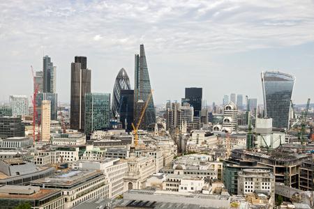 costruction: Skyline view of London, UK