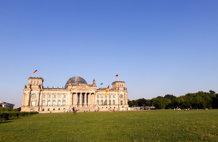 govern: The Reichstag building in Berlin: German parliament