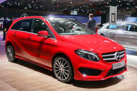 BRUSSELS - JAN 12, 2016: Mercedes-Benz B 160 on display at the Brussels Motor Show. Editorial