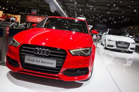 BRUXELLES - 12 janvier 2016: Audi A3 Berline et Audi A3 Sportback exposée au Salon automobile de Bruxelles.