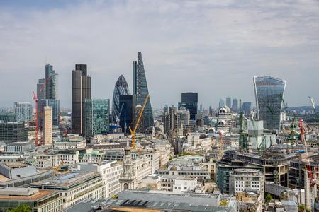 Skyline view of London, UK