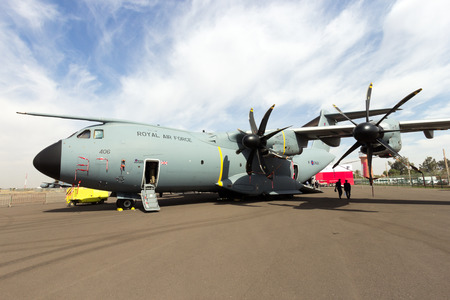 royal air force: MARRAKECH, MOROCCO - APR 28, 2016: Royal Air Force Airbus A400M (Atlas C1) on display at the Marrakech Air Show