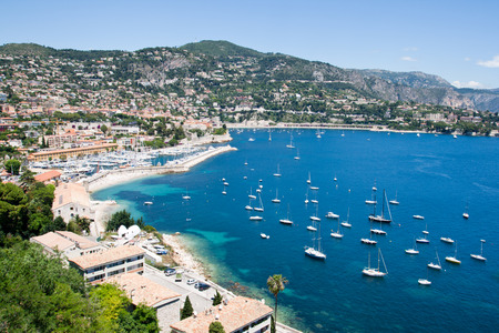 Bay on the Cote d'Azur in Southern France Stock Photo - 62821916