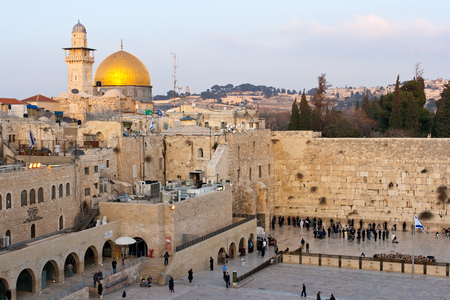 JERUSALEM, ISRAEL - JANUARY 24: Jewish worshipers pray at the Wailing Wall January 24, 2011 in Jerusalem, Israel. The wall is the most sacred sites in Judaism outside of the Temple Mount itself attracting thousands daily.