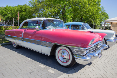 DEN BOSCH, THE NETHERLANDS - MAY 8, 2016: 1956 Packard Four Hundred on the parking lot at the Rock Around The Jukebox event. Editorial