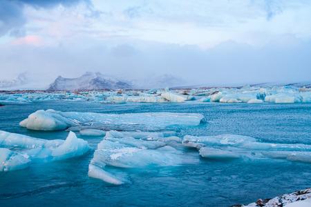 ice floe: Icebergs in Jokulsarlon, Iceland Stock Photo