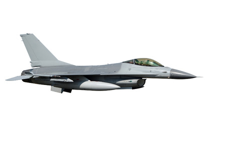 isolated F-16 jet fighter plane