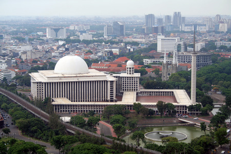 Istiqlal Mosque in Jakarta is the largest of South-East Asia Stock Photo