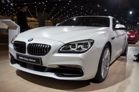 iaa: FRANKFURT, GERMANY - SEP 16, 2015: BMW 640d xDrive shown at the IAA 2015.