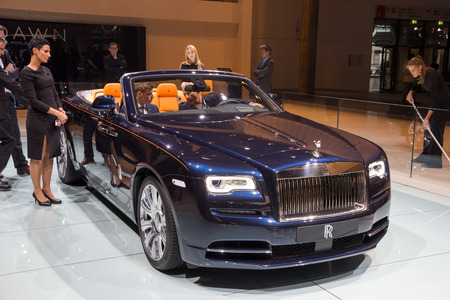 luxery: FRANKFURT, GERMANY - SEP 16, 2015: Rolls-Royce Dawn at the Frankfurt IAA Motor Show. Editorial
