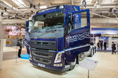 globetrotter: HANNOVER, GERMANY - SEP 21, 2016: Volvo FH 460 Globetrotter on display at the International Motor Show for Commercial Vehicles.