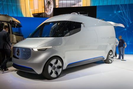HANNOVER, GERMANY - SEP 21, 2016: Mercedes-Benz Vision Van Concept ...