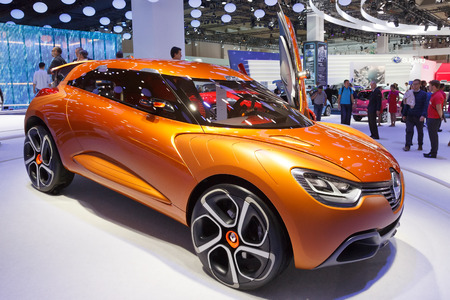 FRANKFURT, GERMANY - SEP 13: Renault Captur at the IAA motor show on Sep 13, 2013 in Frankfurt. More than 1.000 exhibitors from 35 countries are present at the worlds largest motor show.