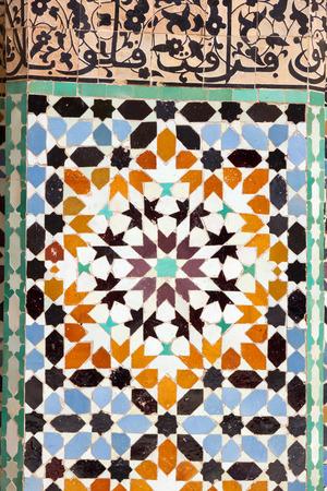 Arabic mosaic in Marrakech, Morocco Stock Photo