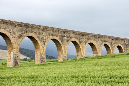 acueducto: Acueducto de Noain near Pamplona city, Navarra, Spain