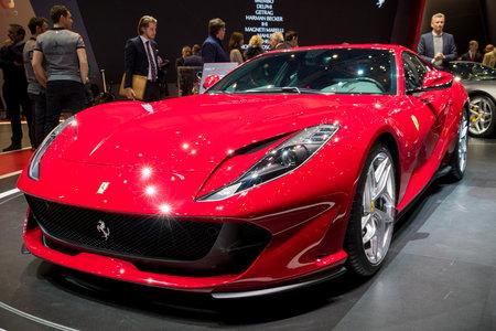 New Ferrari 812 Superfast sports car Editorial