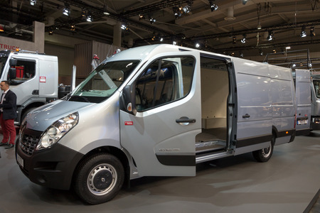 messe: HANNOVER, GERMANY - SEP 21, 2016: New 2017 Renault Master X-Track presented at the International Motor Show for Commercial Vehicles.