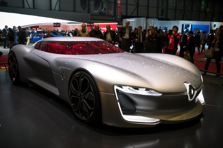 GENEVA, SWITZERLAND - MARCH 7, 2017: Renault Trezor Concept car presented at the 87th Geneva International Motor Show. Editorial