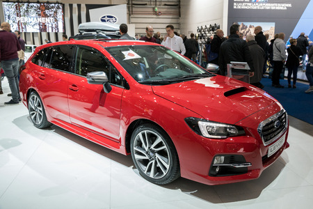 BRUSSELS - JAN 19, 2017: Subaru Levorg car at the Brussels Auto Salon.