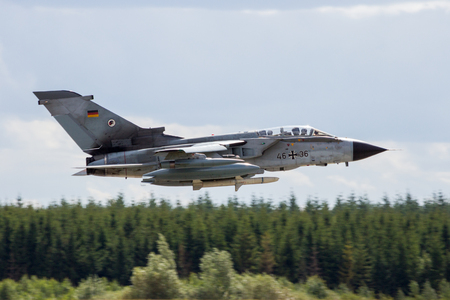 LAAGE, GERMANY - AUG 23, 2014: German Air Force Panavia Tornado IDS bomber plane from AG-51 taking off. Editorial