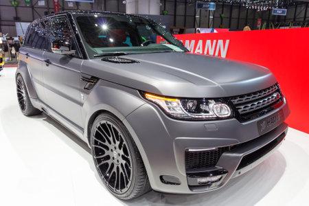 GENEVA, SWITZERLAND - MARCH 3, 2015: Hamann Range Rover Sport at the 85th International Geneva Motor Show in Palexpo, Geneva