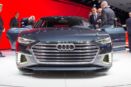 avant: GENEVA, SWITZERLAND - MARCH 4, 2015: Audi Prologue Avant concept car at the 85th International Geneva Motor Show in Palexpo, Geneva. Editorial
