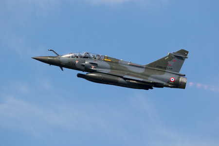 France Air Force Mirage 2000 fighter jet plane Editorial