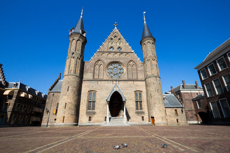 Dutch parliament and court building complex Binnenhof in The Hague, The Netherlands Stock Photo
