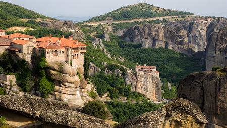 kalabaka: Scenic view on the monasterys in Meteora, Greece