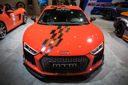 GENEVA, SWITZERLAND - MARCH 8, 2017: Audi TT sports car at the 87th Geneva International Motor Show. Stok Fotoğraf - 79291480