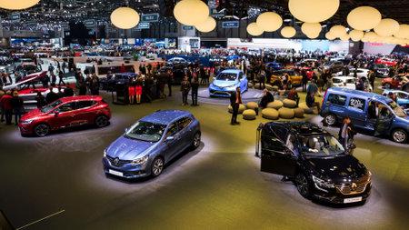 GENEVA, SWITZERLAND - MARCH 8, 2017: New Renault cars on display at the 87th Geneva International Motor Show. Stok Fotoğraf - 79291511