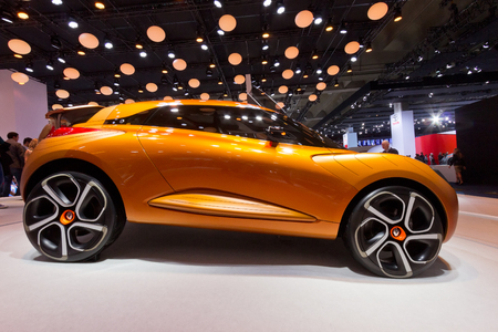 iaa: FRANKFURT, GERMANY - SEP 20: Renault Captur at the IAA motor show on Sep 20, 2013 in Frankfurt. More than 1.000 exhibitors from 35 countries are present at the worlds largest motor show. Editorial