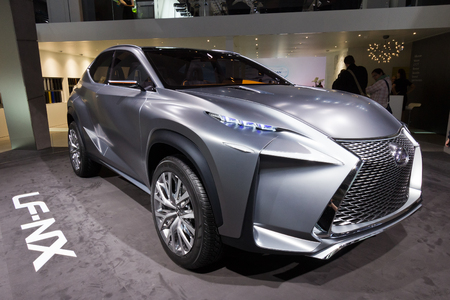 uto: FRANKFURT, GERMANY - SEP 20: Lexus LF-NX concept car at the IAA motor show on Sep 20, 2013 in Frankfurt. More than 1.000 exhibitors from 35 countries are present at the worlds largest motor show. Editorial