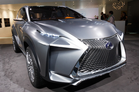 FRANKFURT, GERMANY - SEP 20: Lexus LF-NX concept car at the IAA motor show on Sep 20, 2013 in Frankfurt. More than 1.000 exhibitors from 35 countries are present at the worlds largest motor show. Editorial