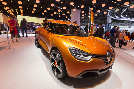 sep: FRANKFURT, GERMANY - SEP 13: Renault Captur at the IAA motor show on Sep 13, 2013 in Frankfurt. More than 1.000 exhibitors from 35 countries are present at the worlds largest motor show.