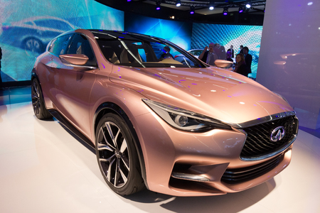FRANKFURT, GERMANY - SEP 13: Infiniti Q30 at the IAA motor show on Sep 13, 2013 in Frankfurt. More than 1.000 exhibitors from 35 countries are present at the worlds largest motor show.