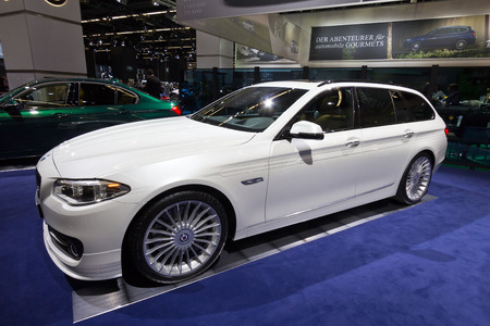 FRANKFURT, GERMANY - SEP 13: BMW Alpina B5 Bi-turbo Touring at the IAA motor show on Sep 13, 2013 in Frankfurt. More than 1.000 exhibitors from 35 countries are present at the worlds largest motor show.